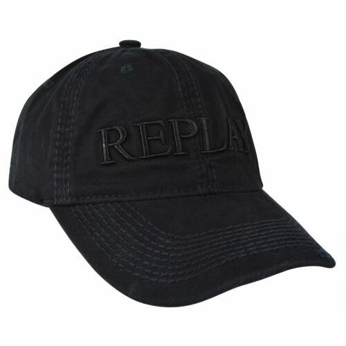 BNWT Replay 100/% Cotton Baseball Cap Black