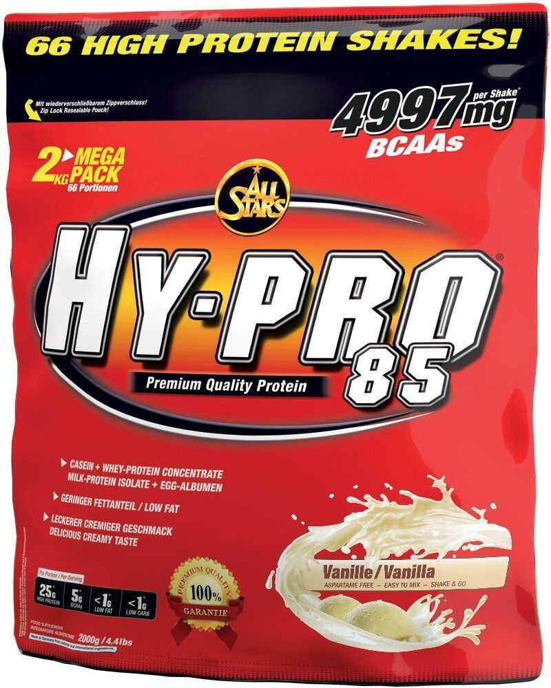 All Stars Hy-Pro 85 (2000g) - selectable Flavour-Protein, Aminos