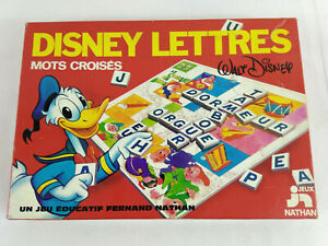 Jeu-Disney-Lettres-Mots-Croises-Nathan-1977-complet-Vintage-Envoi-rapide-suivi