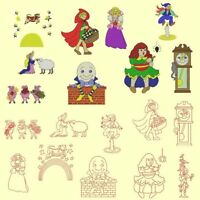Nursery Rhymes Machine Embroidery Designs Cd-20 Designs By Anemone Embroidery