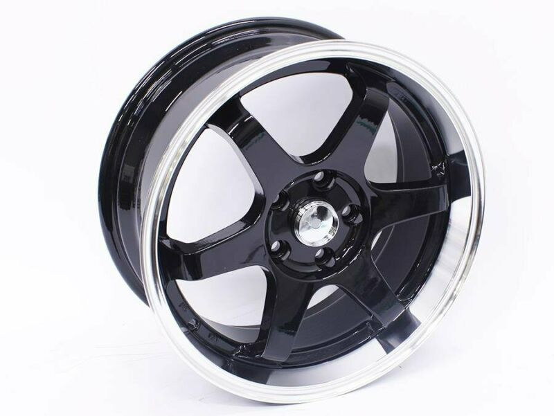 17 M4368 5-112 Black Machined Lip Alloy Wheels – 5-112 pcd – 35 offset – CB66.6 – 7.5j width – sold