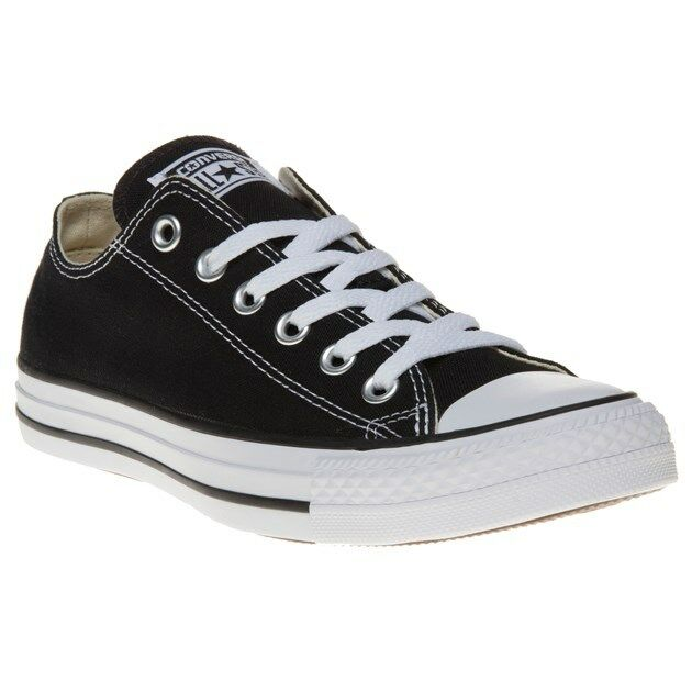 New BOYS CONVERSE BLACK ALL STAR OX CANVAS Sneakers