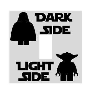 Lego Star Wars Dark Light Side Switch Vinyl Decal Sticker Child Room