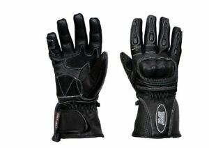 LADIES-MOTORBIKE-MOTORCYCLE-SCOOTER-PROTECTIVE-BLACK-PINK-LEATHER-RACING-GLOVES
