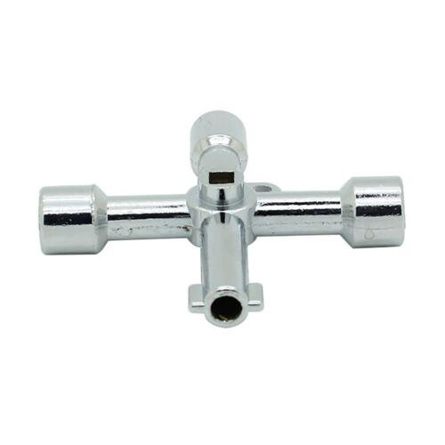 Multifunction 4 Way Cross Key Stainless steel Utility Hand Tool skeleton key