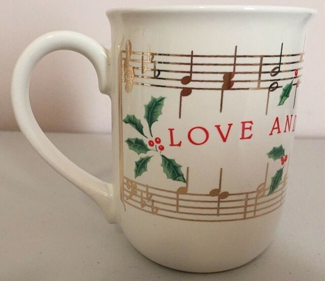 "Hallmark LOVE AND JOY COME TO YOU Christmas ceramic coffee MUG 4""H Japan RARE | eBay"