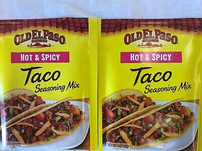 Old El Paso Hot Spicy Taco Seasoning Mix Vintage Lot Of 2 Free Ship Ebay
