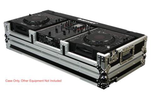 "Odyssey FR10CDJWE DJ Coffin w// Wheels For  2 Large CD Players  CDJ 10/"" Mixer"