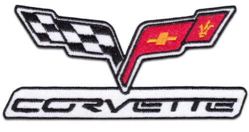 Chevrolet Corvette US Muscle Car V8 Aufnäher Aufbügler Patch USA Logo Emblem Neu