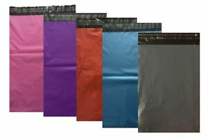 Coloured-Mailing-Bags-Plastic-Mail-Post-Postage-Polythene-Strong-Seal-All-Sizes