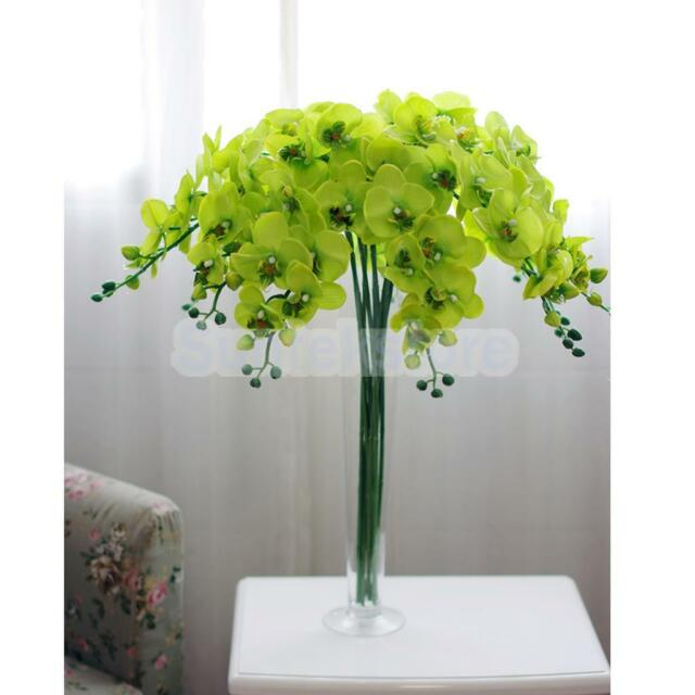 1pcs Artificial Green Butterfly Orchid Flower Plant Wedding Party Decoration