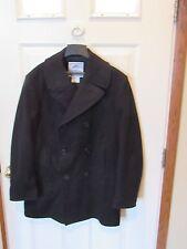 US NAVY Pea Coat USN 100% Wool Coat Jacket men's SIZE 42 LONG DSCP 42L