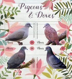 PréCis Nevis 2019 Neuf Sans Charnière Pigeons Et Tourterelles Ruddy Sol Dove Rock Pigeon 4 V M/s Oiseaux Timbres-afficher Le Titre D'origine Toujours Acheter Bien