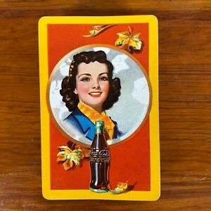 1943 WWII Coca Cola Autumn Girl Playing Cards Complete Deck No Box