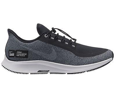92e7b81e732cb Nike Air Zoom Pegasus 35 Shield Mens Aa1643-001 Black Grey Run Shoes Size  11.5
