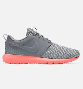 Nike-ROSHERUN-NM-Flyknit-Premium-Scarpe-da-ginnastica-palestra-casual-misure-UK-9-EUR-44-Lupo-Grigio