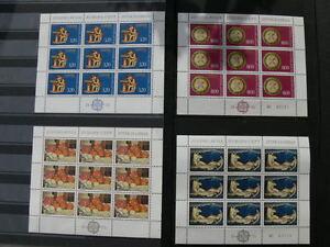Lot-de-4-blocs-EUROPA-de-Yougoslavie-neufs-luxes-sans-trace-de-charniere-TTB