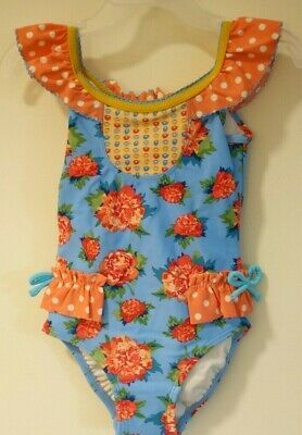 Matilda Jane Swimming Along Swimsuit Size 12-18 18-24 Months New In Bag