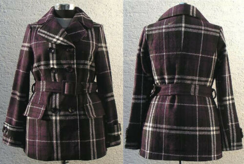 Giacca donna cj9321 scozzesi tessuto spessore misto lana 36,38,40,42 transizione Outdoor