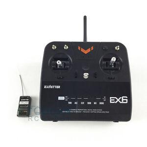 Volantex EX6 RX TX RC Transmitter Controller Receiver For Propeller Glider Plane