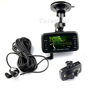 720p hd car video recorder dvr camera 360 degree panoramic with 3 lens ebay. Black Bedroom Furniture Sets. Home Design Ideas