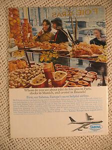 SABENA BELGIAN WORLD AIRLINES PARIS HAWAII waikiki beach vintage old 1964 ADS