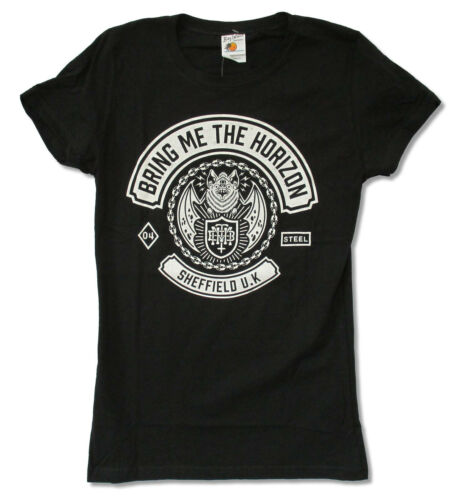 Bring Me The Horizon Bat Girls Juniors Black T Shirt New Official BMTH