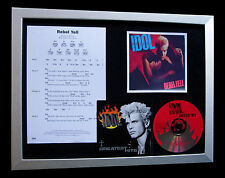BILLY IDOL Rebel Yell LTD TOP QUALITY CD FRAMED DISPLAY+EXPRESS GLOBAL SHIPPING!