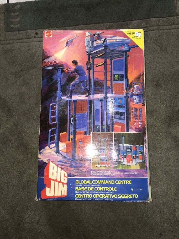 Bolte big jim base de controle neuf mattel 1984 global kommandozentrale eingerichtet