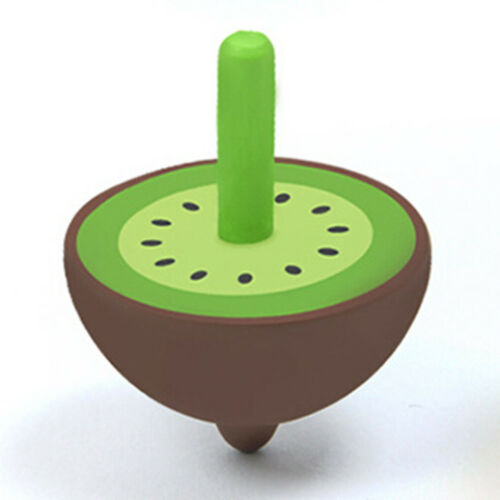 Fruit Shape Spinning Top Cartoon Toys Leisure Wooden Toy Children Kid Gift