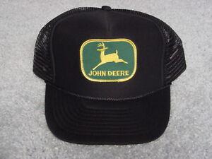 Image is loading JOHN-DEERE-LOGO-BLACK-SUMMER-ADULT-BALL-CAP- 1b45c4a09fe4