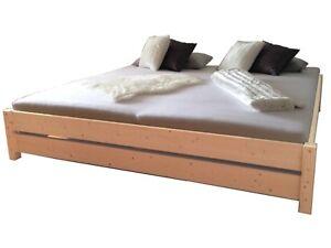 Premium futonbett bett holz massiv holzbett ideal f r for Hohe betten 180x200