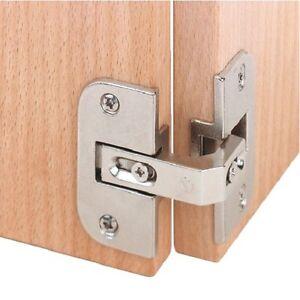 Image is loading 2pcs-Pie-Cut-Corner-Hinges-Concealed-Kitchen-Cabinet-  sc 1 st  eBay & 2pcs Pie Cut Corner Hinges Concealed Kitchen Cabinet Door Hinge 35mm ...