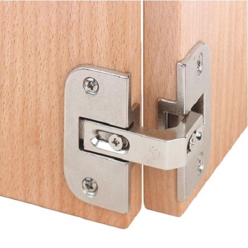 2pcs Pie Cut Corner Hinges Concealed Kitchen Cabinet Door Hinge 35mm Cup 150