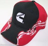 Cummins Dodge Ball Cap Hat Red Blaze Lightening Truck 4x4 Velcro Baseball 59