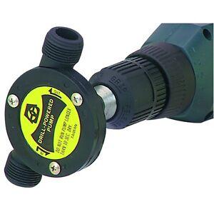 New PACIFIC HYDROSTAR Drill Powered Water Pump Garden Hose Thread