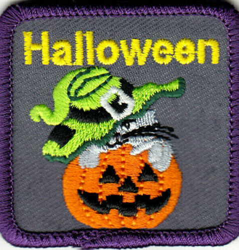 HALLOWEEN Iron On Patch Halloween Ghosts Jack O/'Lantern Pumpkin