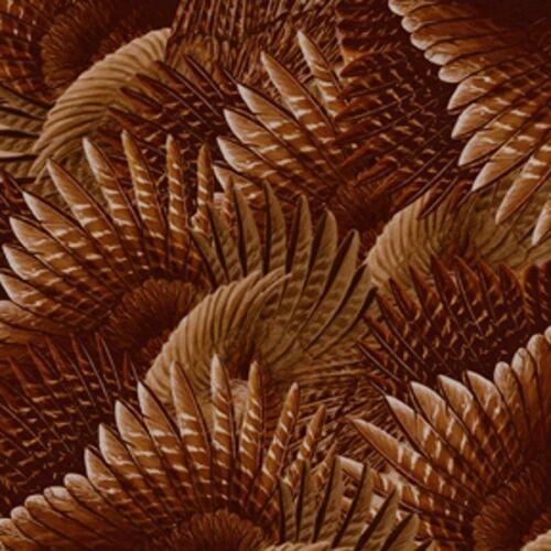 Fabulous Fuzzy Pheasant Feathers 100/% Cotton Fabric