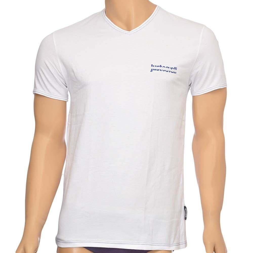 Just cavalli sous-vêtement homme coton stretch v, s s t-shirt col v, stretch  blanc vee tee 12c3c3 786d35a35d15