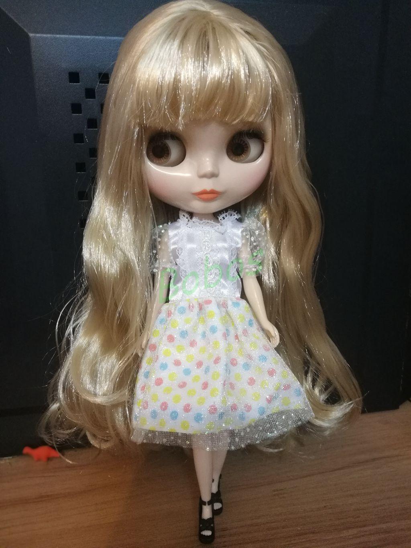 12  Neo Desnuda Muñeca Blythe Doll de fábrica Luz Cabello Rubio con Bang