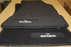 Genuine-Smart-Roadster-452-RHD-Brabus-Black-Carpet-Velour-Mats-NEW