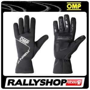 OMP RAIN K Karthandschuh Handschuhe Professionell  Motorsport Rally Schwarz