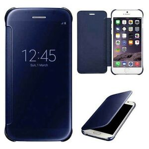 For-iPhone-6-6s-Plus-5s-SE-Luxury-Clear-View-Mirror-Smart-Case-Pouch-Flip-Cover
