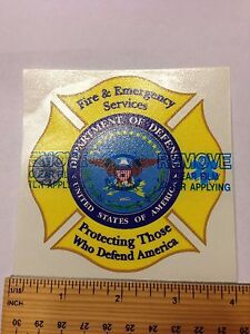 Dod Fire Emergency Services Decal Ebay