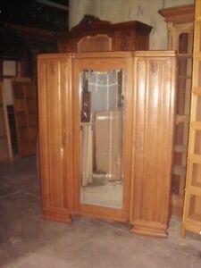 French-1940-039-s-1950-039-s-Art-Deco-3-door-wardrobe-armoire