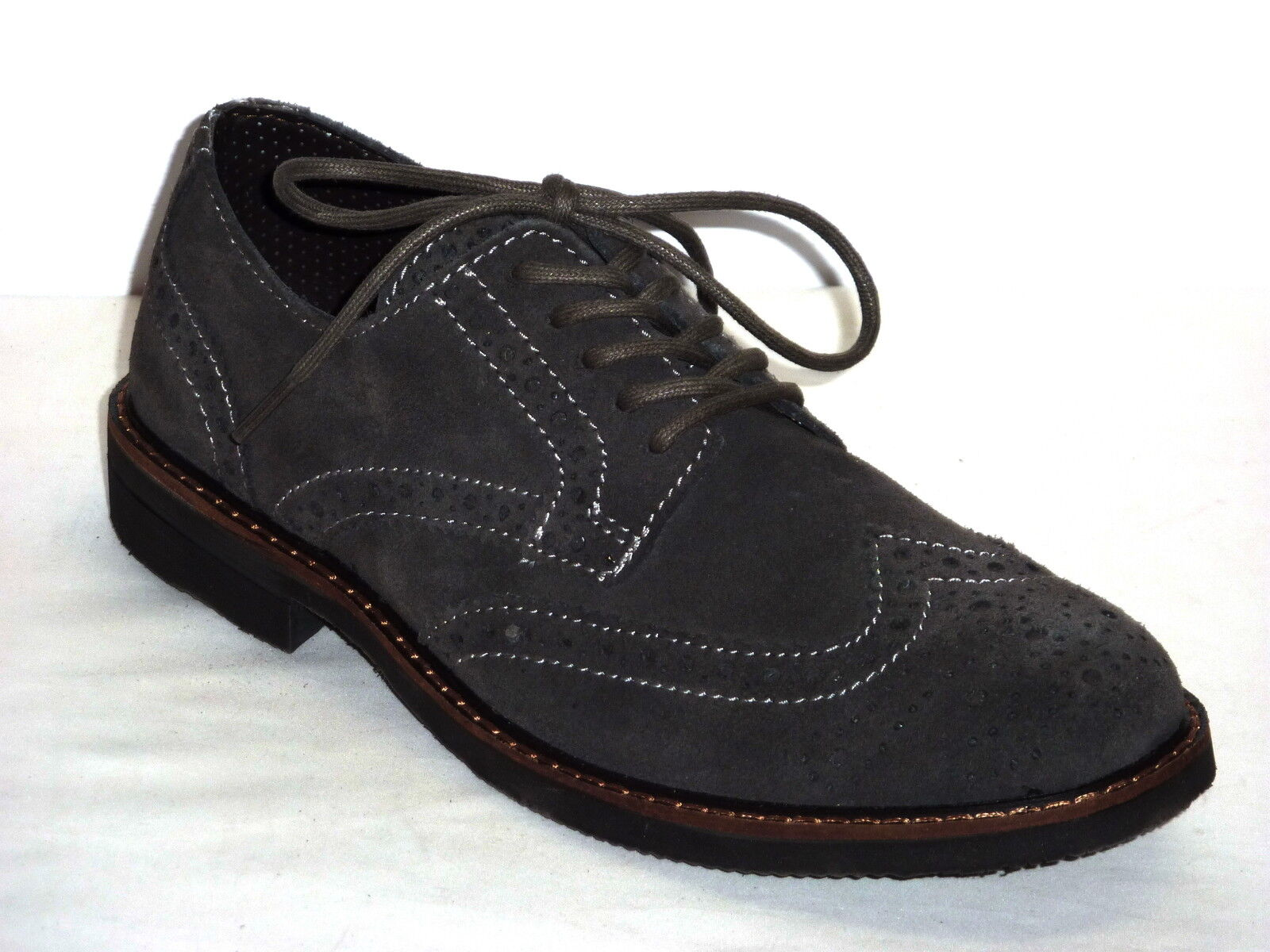 Chaussures hommes INVERNALI CASUAL STILE INGLESE ALLACCIATE NABUK gris PIOMBO n. 39