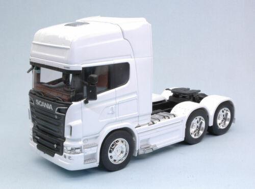 6x4 2015 White disociada Truck 1:32 Model 32670lw Welly Scania r730 v8