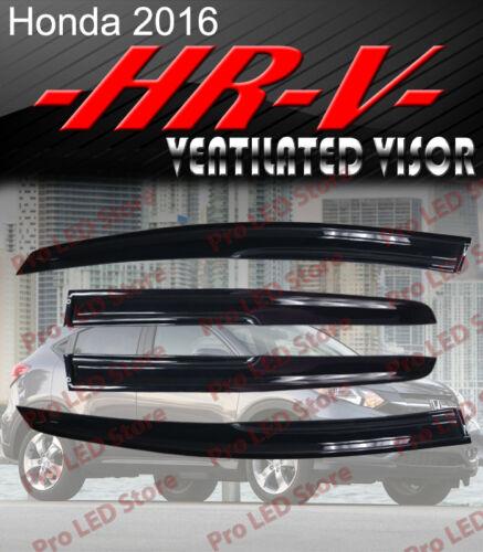 Smoke 2016 Honda HRV Window Visor Vent Shade Rain//Sun//Wind Guard