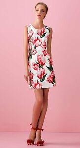 hot sale online 3bc25 9f621 Dettagli su Vestito Allure bianco e rosso floreale 48 Elegant dress  Elegantes Kleid Robe