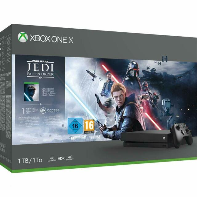 Microsoft Xbox Uno X 1TB Negro - Star Wars Jedi : Trampas Orden Paquete - Nuevo